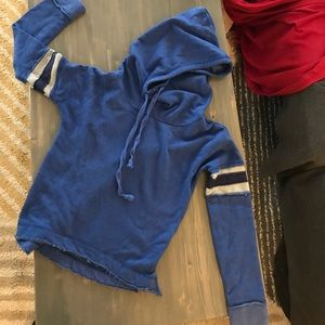 Poof rugby sleeved hoodie